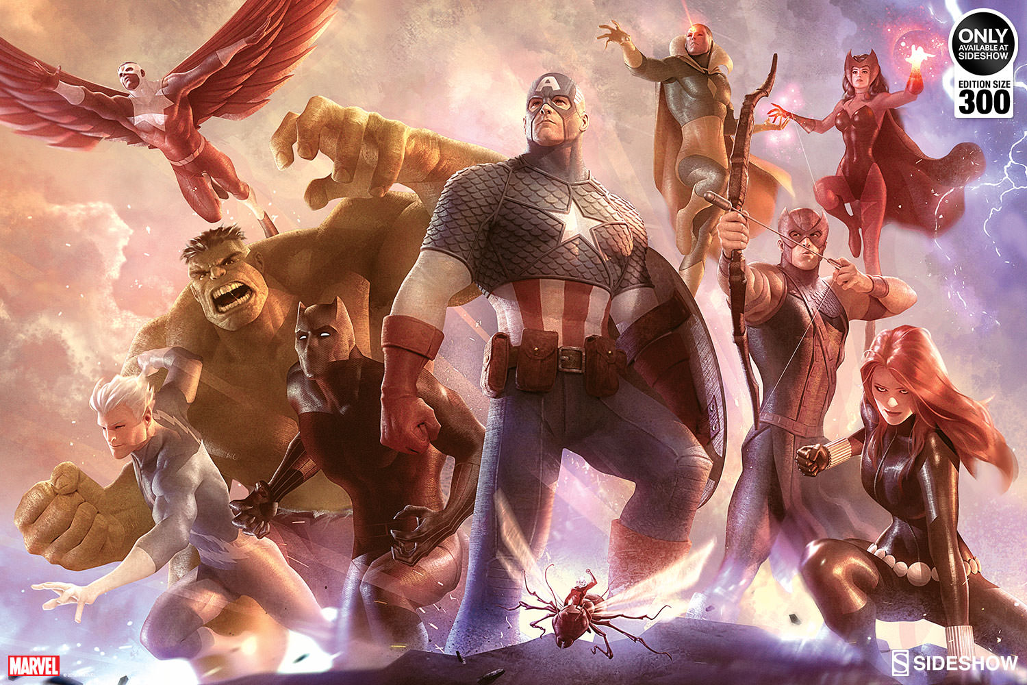 Avengers Assemble Wallpaper Hd Marvel Avengers Team Cap Art Print By Sideshow