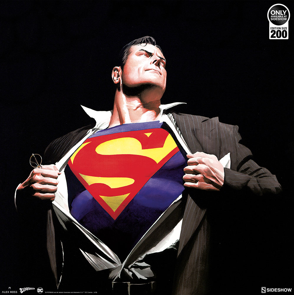 Doctor Symbol Hd Wallpaper The Man Of Steel Fine Art Lithograph By Alex Ross Is Ready