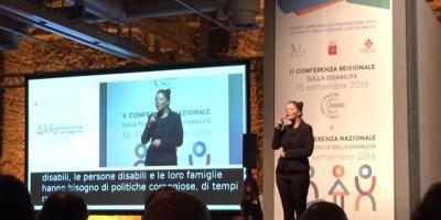 foto della conferenza sulla disabilità