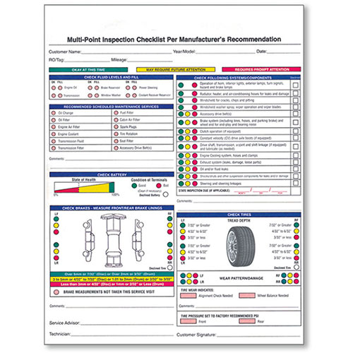 Vehicle Inspection Form, Used Car Inspection Checklist, Multi - vehicle inspection form
