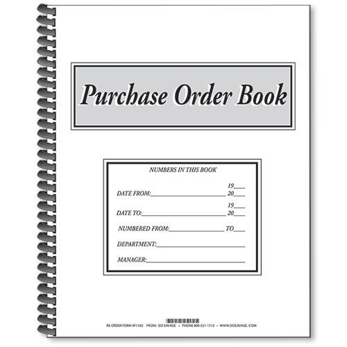 Purchase Order Books Auto Dealer Forms - Car Dealer Supplies