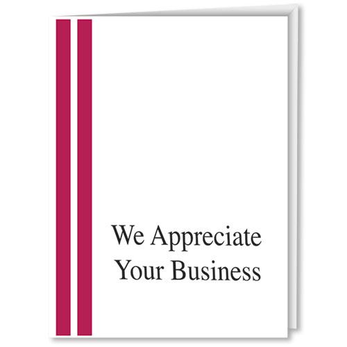 We Appreciate Your Business Auto Dealer Thank You Cards V1