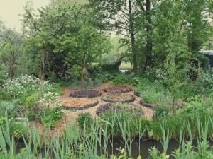Vlindertuin lente overzicht moestuin