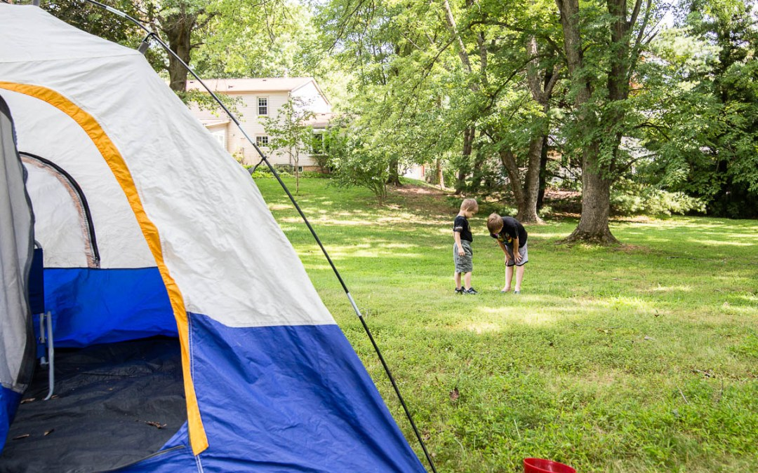 {Weekend Story Project} Backyard Camping