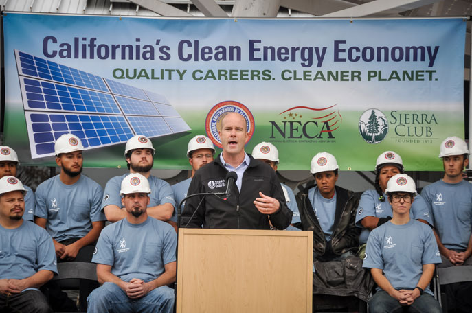 White House, California Electrical Workers Join Sierra Club to - clean house jobs