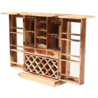 Lincoln Study Solid Wood Foldout Complete Wine Bar Liquor ...