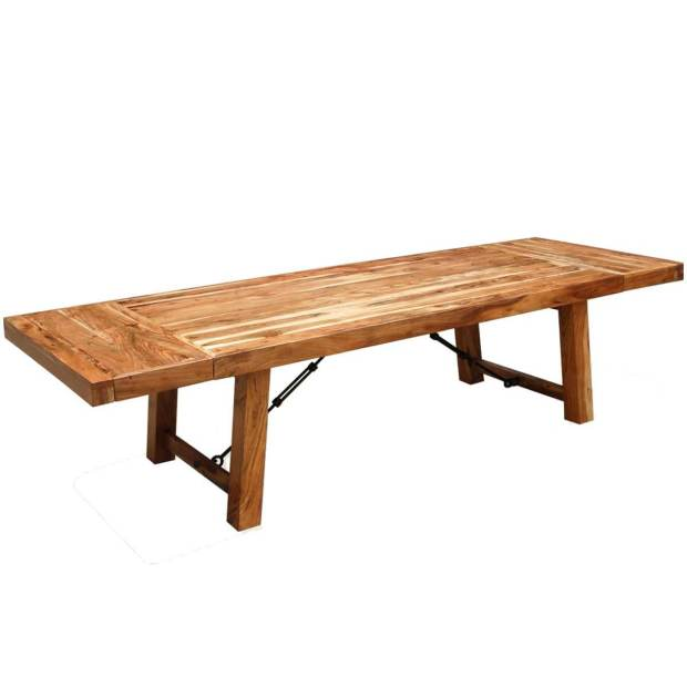 rustic wood large santa fe dining table