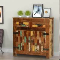 Holden Handcrafted Rustic Reclaimed Wood 2 Drawer Buffet ...