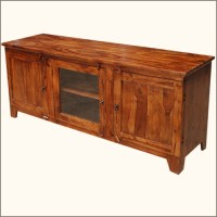 Rustic Media Console TV Stand Entertainment Center Storage