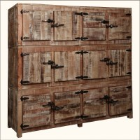 12 Square Cubbies Reclaimed Wood Large Wall Unit Storage ...