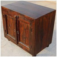 Espresso Wood Storage Shelf Kitchen Cabinet Side Table