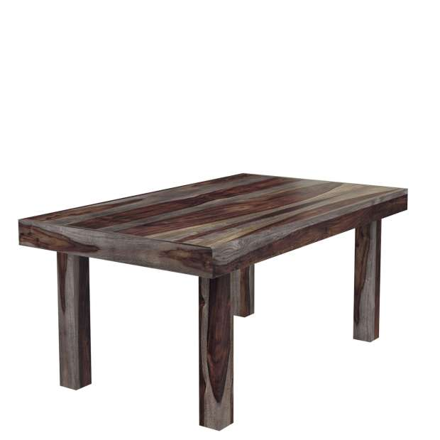 frisco modern solid wood rectangular rustic dining table
