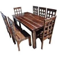 Portland Rustic Furniture Extendable Dining Room Table ...