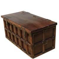 Kokanee Beaufort Primitive Solid Wood & Iron Coffee Table ...