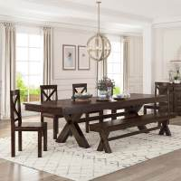 Westside Indoor Picnic Style Dining Table Bench Set with ...