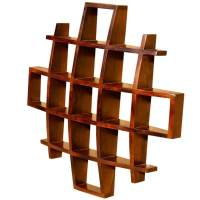 Contemporary Wood Display Wall Hanging Shelves Home Decor ...