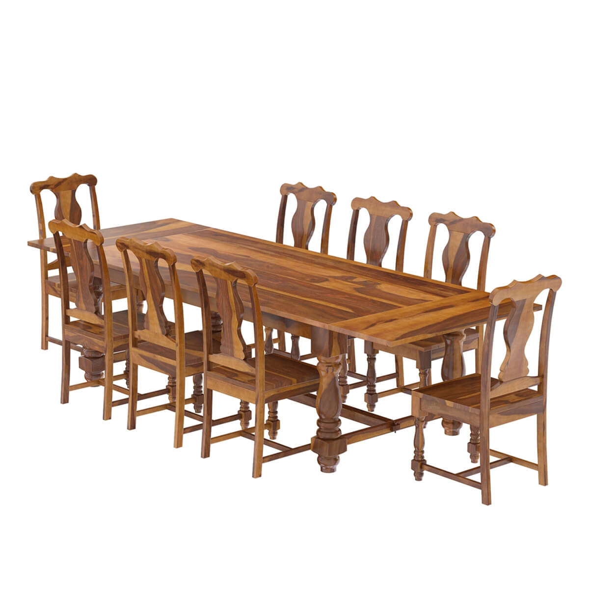 Rustic Solid Wood Dining Table Chair Set Furniture W