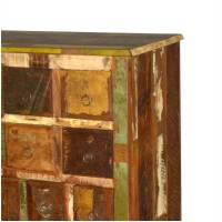 Rustic Reclaimed Wood Apothecary Storage Cabinet with 26 ...