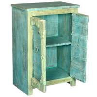 Grantsville Rustic Reclaimed Old Wood Accent Storage Cabinet