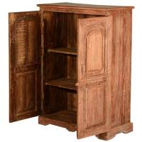 New Orleans Rustic Reclaimed Wood Storage Cabinet Armoire