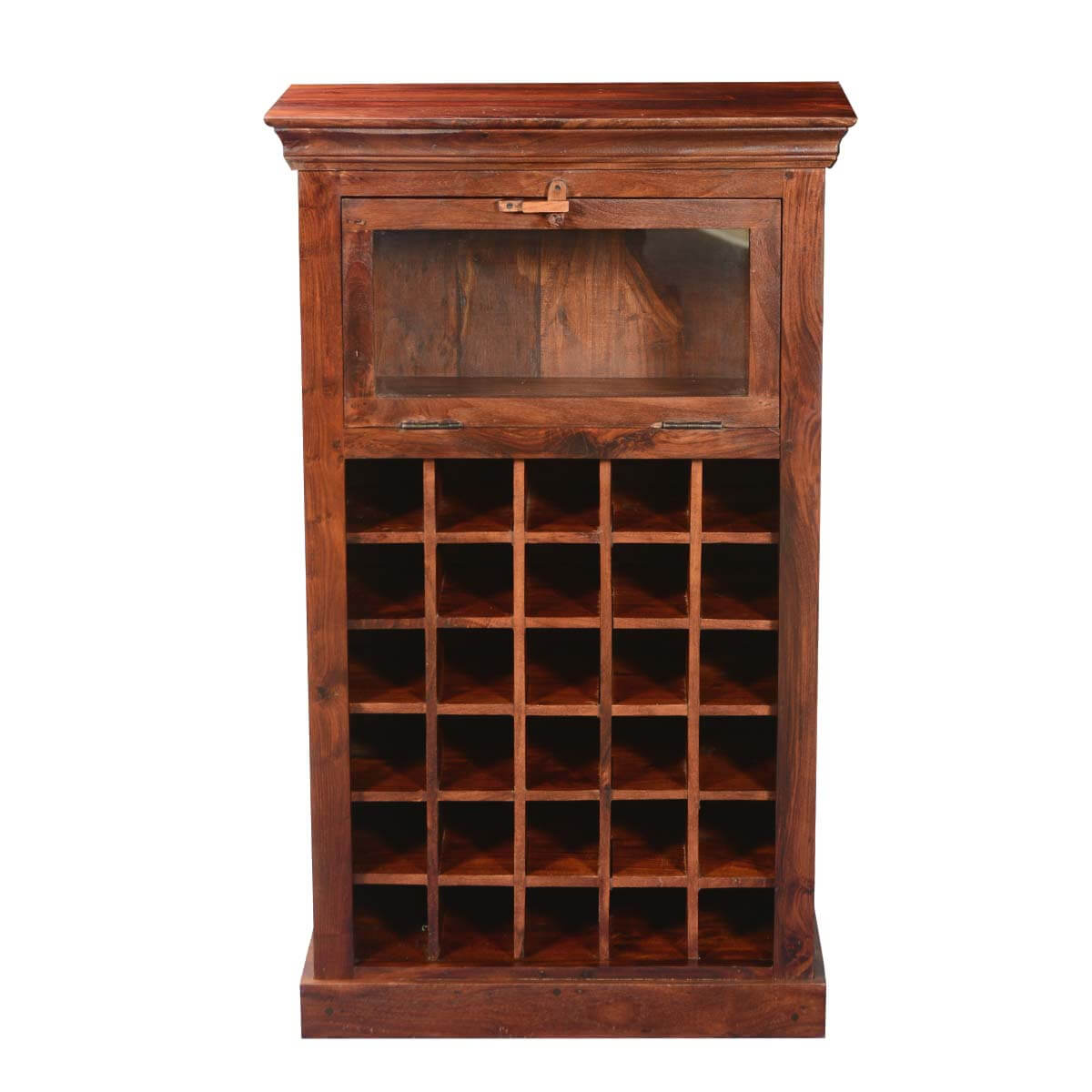 Colonial Rustic Solid Wood Acacia Letter Box Mini Wine