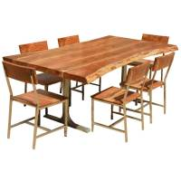 Live Edge Kitchen Table Gallery - Bar Height Dining Table Set