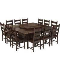 Modern Pioneer Solid Wood Lazy Susan Pedestal Dining Table ...