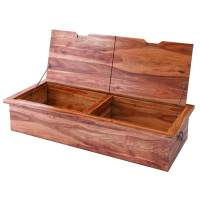 Delaware Solid Wood Coffee Table Storage Trunk