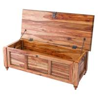 Livingston Solid Wood Storage Trunk Rustic Coffee Table