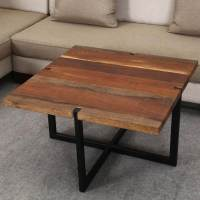 Suffolk Simplicity Reclaimed Wood Square Industrial Coffee ...