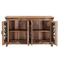 "Sophie 59"" Mango Wood Industrial Accent Storage Cabinet"