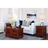 3 Piece Coffee Table Set With Deep Drawers