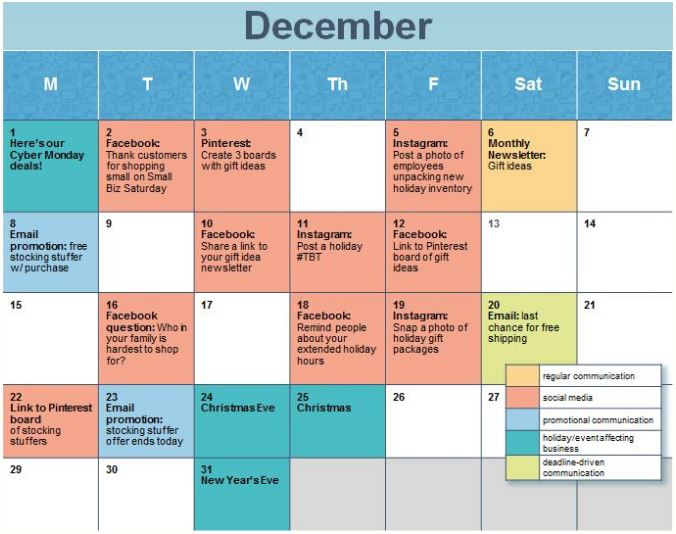 Planning For 2017? Create A Social Media Calendar - Sierra Vista