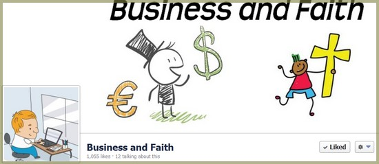 Facebook ads for the Business and Faith Facebook fan page