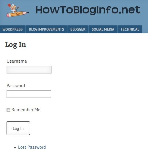new login screen in WordPress