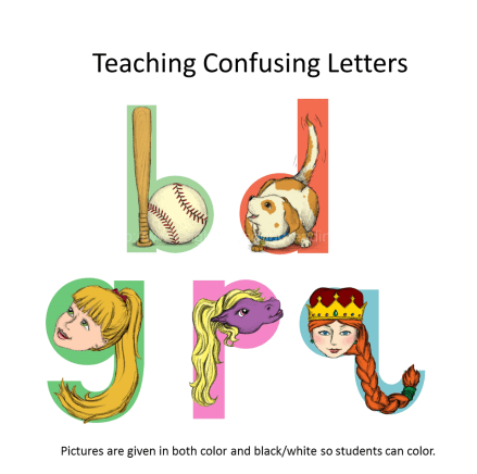 Teach confusing letters