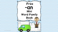 2 Free CVC AN Family Worksheets - Build a Mini-book!