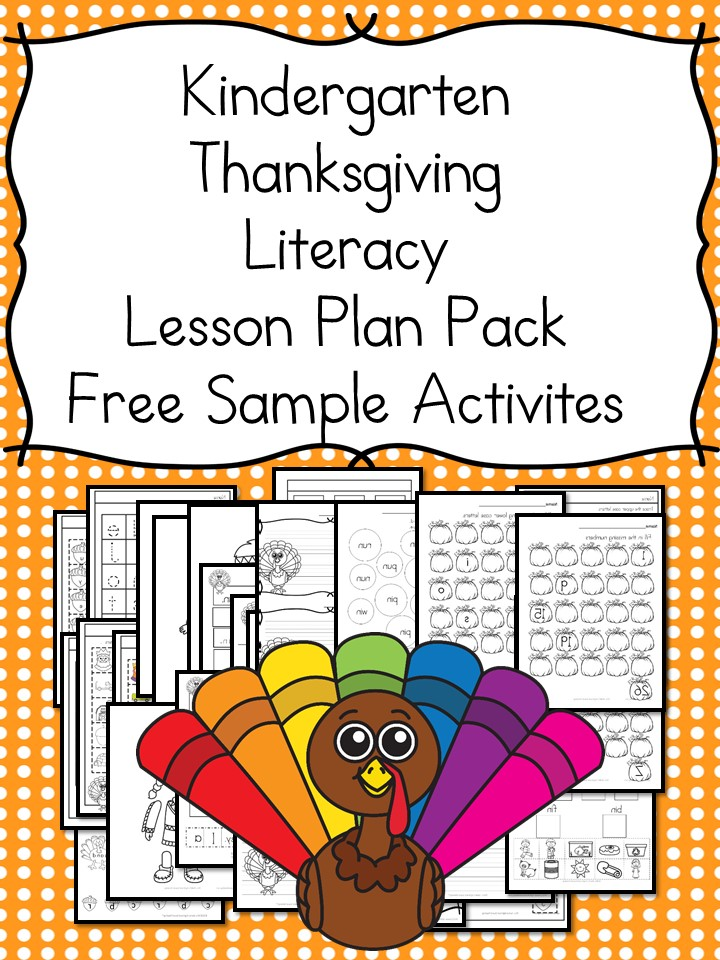Thanksgiving Lesson Plans for Kindergarten \u2013 Books, Activities, and