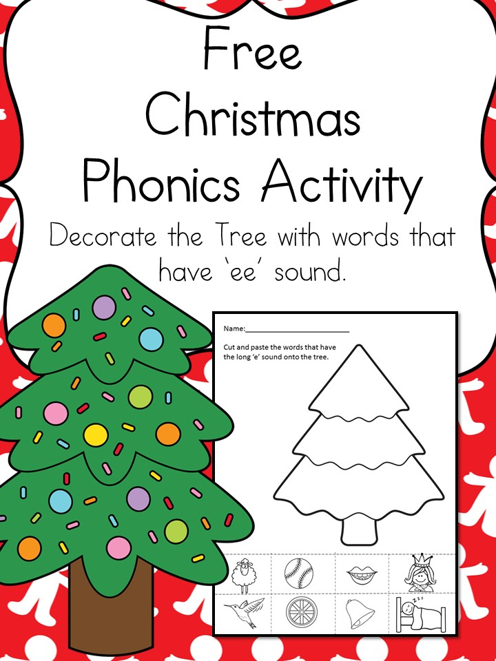Christmas Word Family Worksheet -Make Learning Fun! - christmas tree words