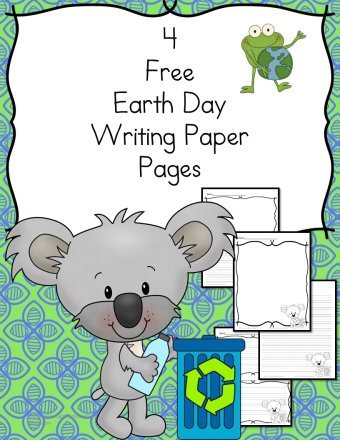 Earth Day Writing Paper -For Kindergarten and Beyond!-Make Writing Fun!