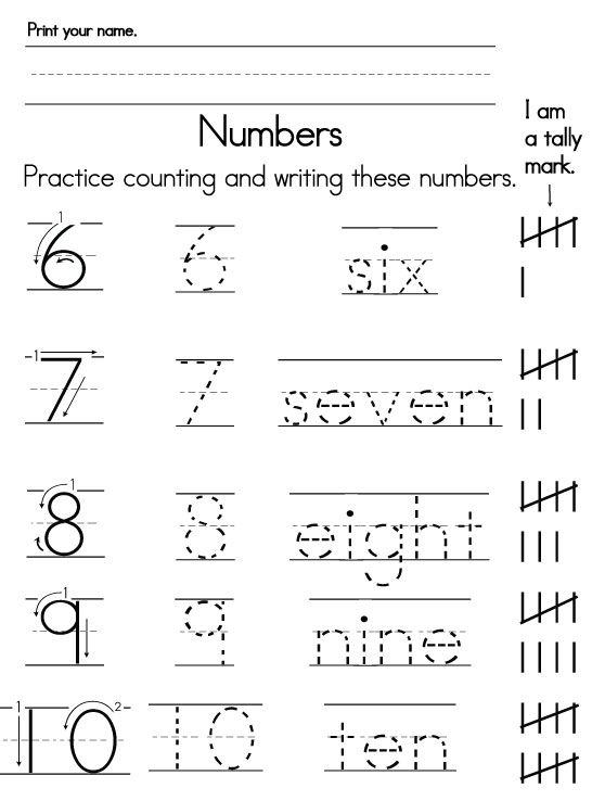 Number Worksheets - Numbers In Writing