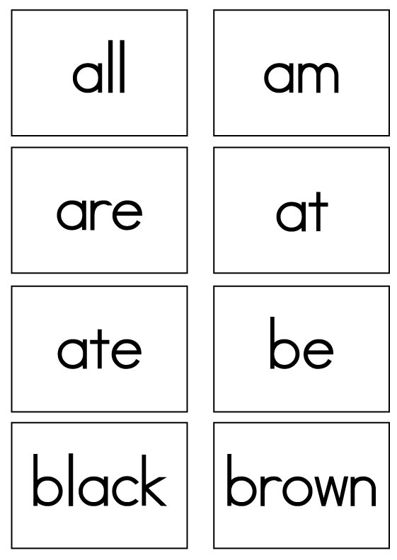 Dolch Sight Words Flash Cards - Primer - Sight Words, Reading