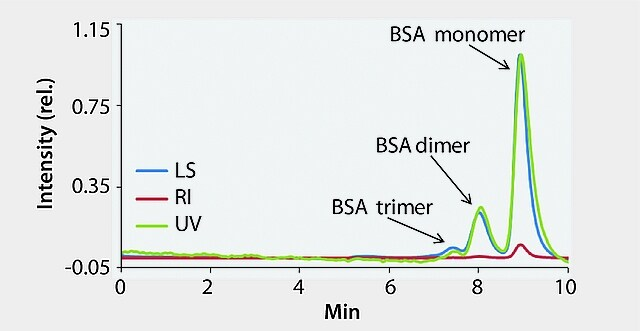 HPLC Analysis of Light Scattering Detection of BSA on Zenix® SEC-300