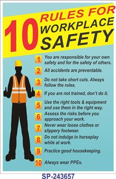 Pics photos poster title 10 rules for workplace safety