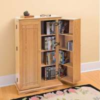 Solid Oak Media Storage Cabinet | 4 Reviews | 4.25 Stars ...