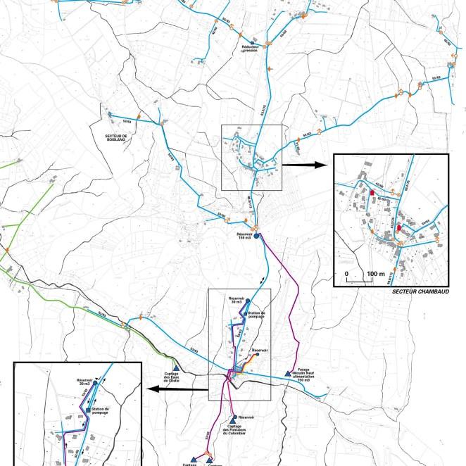 Plan réseau eau Rochefort en Valdaine (26)