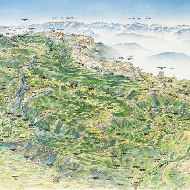 Panorama Massif du Vercors
