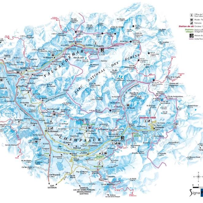 Carte touristique Champsaur Valgaudemar (05)