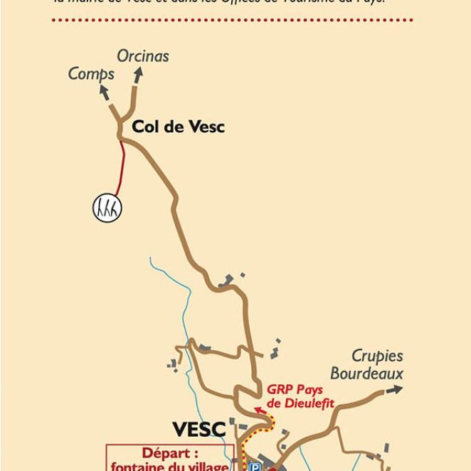 Panneau départ sentier caprins - Vesc (26)
