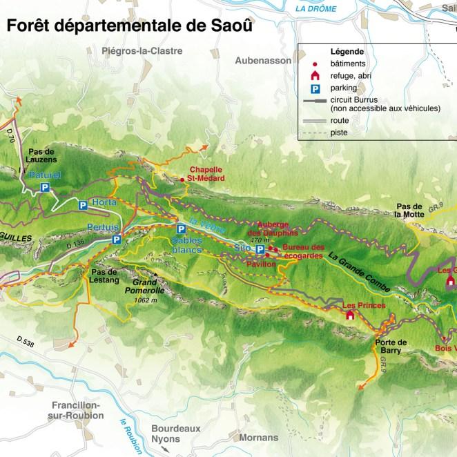 Panneau site Forêt de Saoû (26)